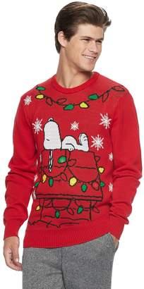 Men's Peanuts Snoopy Light-Up Christmas Sweater