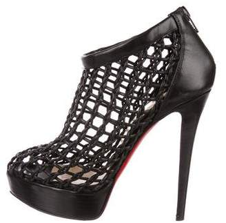 714118accc46 wholesale pre owned at therealreal christian louboutin coussin cage booties  491d3 5b4cc