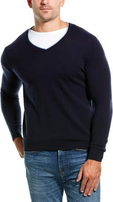 Amicale Cashmere V-Neck Cashmere Sweater