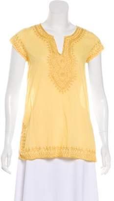 Calypso V-Neck Short Sleeve Top