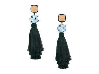 Tory Burch Silk Tassel Earrings Earring