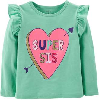 Carter's Toddler Girl Flutter Sleeve Top