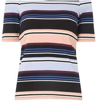 Dorothy Perkins Womens Multi Striped Bardot Top