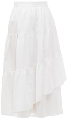 Merlette New York Hallerbos Tiered Wrap Cotton Lawn Midi Skirt - Womens - White