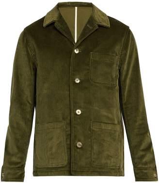 DE BONNE FACTURE Patch-pocket cotton-corduroy jacket