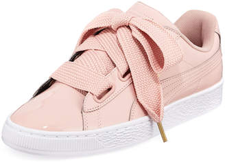 Puma Basket Heart Patent Leather Sneakers