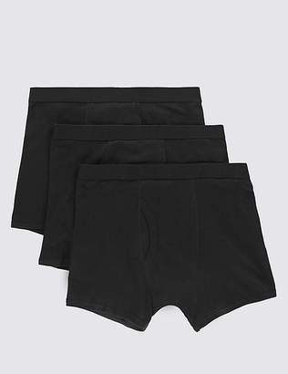 Marks and Spencer 3 Pack Pure Cotton Cool & FreshTM Trunks