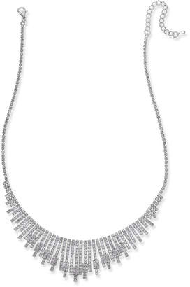 INC International Concepts I.N.C. Silver-Tone Pavé Statement Necklace, Created for Macy's