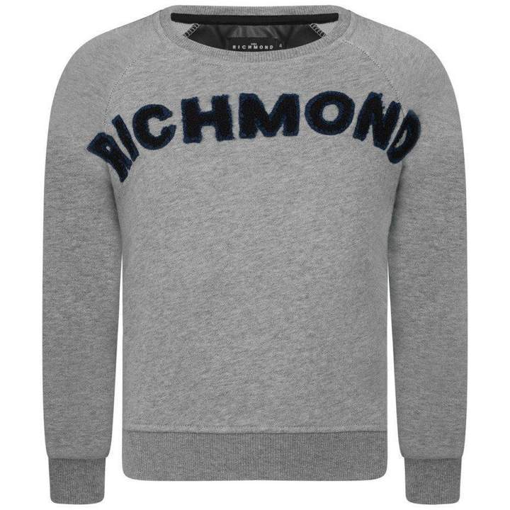 John RichmondBoys Grey Branded Sweater