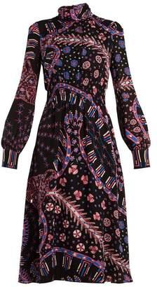 Valentino Tutankhamun Leopard Print Silk Dress - Womens - Pink Print