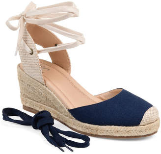Journee Collection Womens Jc Monte Pumps Lace-up Round Toe Wedge Heel