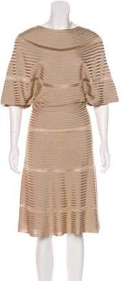 Valentino Rib Knit Midi Dress
