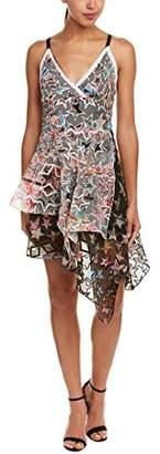 Nicole Miller Women's Mixed Paisleys Stars Asymmetrical Dress