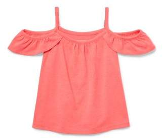 Children's Place The  Toddler Girls' Cold Shoulder Ruffle Tank Top