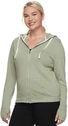 So Juniors' Plus Size SO Thumb Hole Zip-Up Hoodie