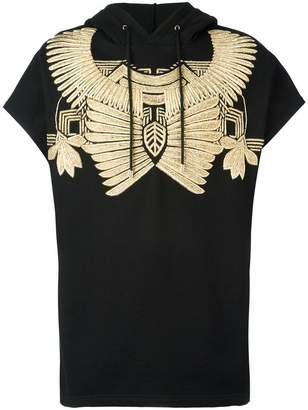 Les Hommes golden embroidery sleeveless hoodie
