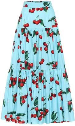 Dolce & Gabbana Exclusive to Mytheresa cherry printed cotton maxi skirt