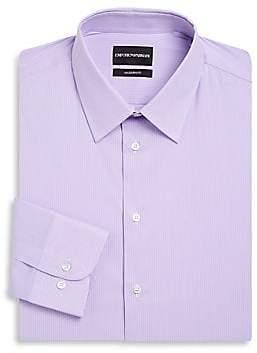 Emporio Armani Men's Modern Fit Stripe Stretch Dress Shirt