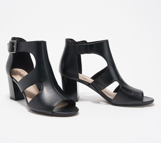 Clarks Collection Leather Heeled Sandals - Deva Heidi