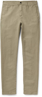 Massimo Alba Linen and Cotton-Blend Trousers - Men - Green