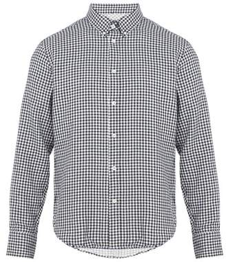Rag & Bone Fit 2 Tomlin Gingham Cotton Flannel Shirt - Mens - Navy Multi