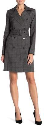 Modern American Designer Plaid Double-Breasted Coat