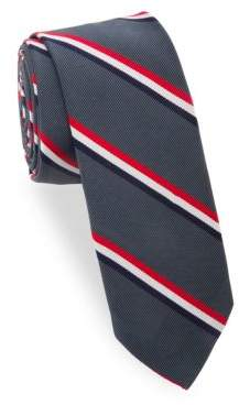 Thom Browne Striped Silk-Cotton Tie