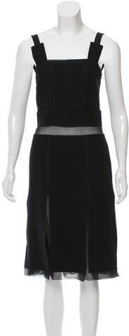 pradaPrada Wool & Silk Pleated Dress