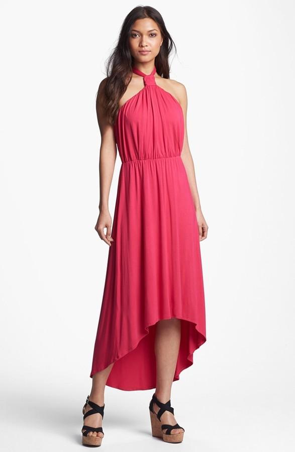 Nordstrom FELICITY & COCO Halter High/Low Maxi Dress (Regular & Petite Exclusive)