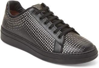 Alaia Black & White Laser Cut Low-Top Sneakers