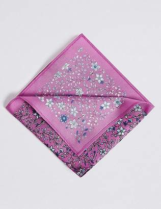 Marks and Spencer Pure Silk Ditsy Floral Print Pocket Square