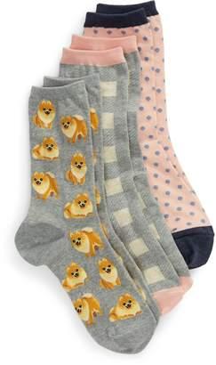 Hot Sox Dogs 3-Pack Socks