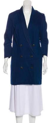 Halston Denim Knee-Length Coat