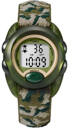 Timex Boys Time Machines Digital Green Camouflage Watch, Elastic Fabric Strap