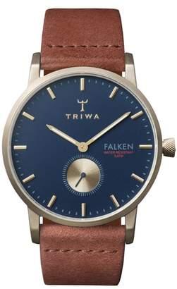 Triwa Loch Falken Organic Leather Strap Watch, 38mm