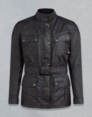 Belstaff Classic Tourist Trophy 4-Pocket Motorcycle Jacket Black UK 4 /