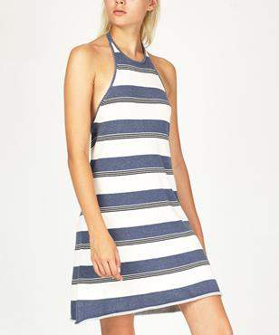 The Fifth Label Sunset View Dress Sky & Ivory Stripe