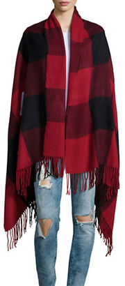 Lord & Taylor Plaid Blanket Wrap Scarf $42 thestylecure.com