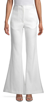 story. White High-Waisted Flared Pant