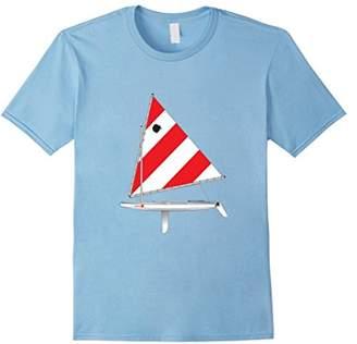 JET Sailboat Tee Shirt Sunfish Red and Sail