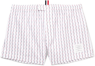 Thom Browne Printed Cotton Boxer Shorts $125 thestylecure.com