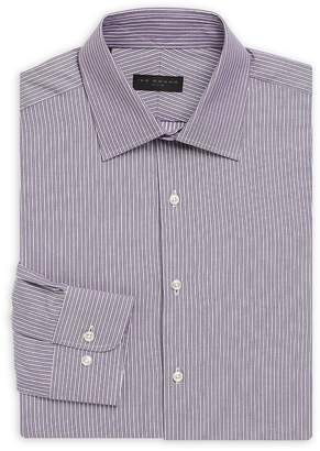 Ike Behar IKE by Men's Striped Regular Fit Dress Shirt