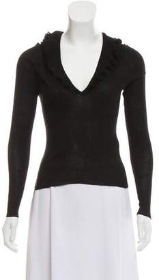 Gucci Long Sleeve Rib-Knit Sweater
