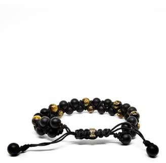 Room101 Double Row Agate Tiger's Eye Bracelet
