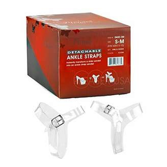 Pleaser USA Detachable/Reusable Ankle Straps Converts Any Stiletto Heels (DASC) 5 to 10-1 Set