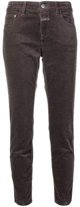 Closed cropped corduroy trousers
