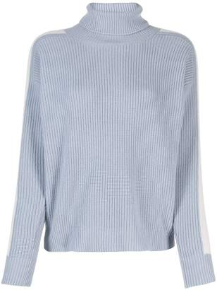 Peserico contrast side panel jumper