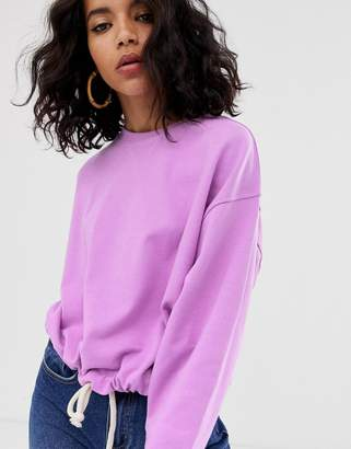 Asos Design DESIGN oversized sweatshirt with rope trim hem
