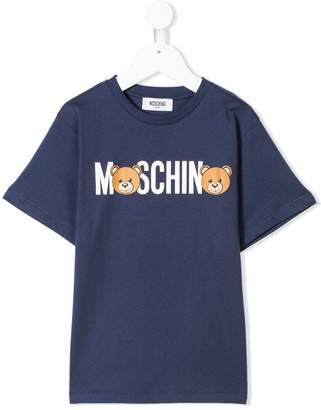 Moschino Kids bear logo print T-shirt