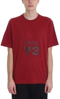 Y-3 Y 3 Bordeaux Cotton T-shirt